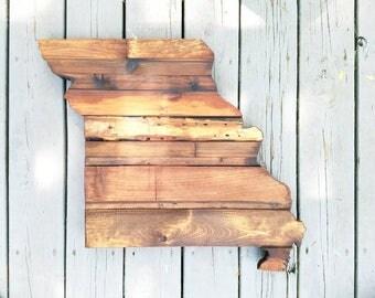 Missouri Rustic Wood State Cut Out, Wood Art Sign, Missouri Wood Sign, MZ, Rustic Home Decor, Mizzouri Barnwood, Mizzouri Home Decor