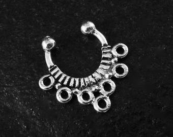 925 Sterling Silver Minimal Fake Illusion Septum Ring / Sold Individually / 1 Piece