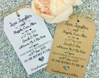 Save The Date Invitation For Wedding Abroad, Destination Wedding,