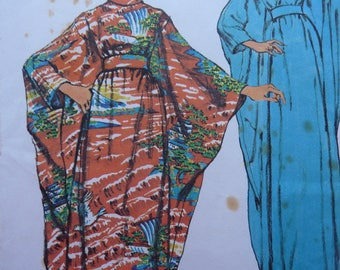 Caftan Dress Sewing Pattern for Women. Simplicity Pattern 5900. One Size. Uncut and Complete. Original Jiffy. 1970s retro vintage fashion.