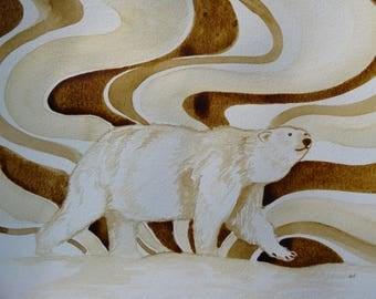 Arctic Polar Bear coffee art