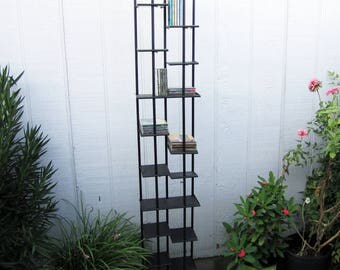 """CD DVD Storage Organizer Shelf High Tower Rack Stand Holds 200 CDs 70"""" Tall -Pickup Only"""