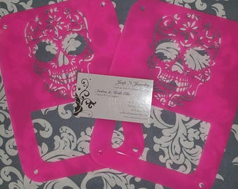 Sugar Skull Tail Light Covers (Pair)