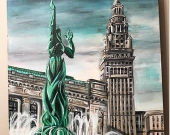 Fountain of Eternal Life/Terminal Tower- Print