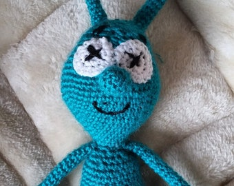 Cat toy - nono the nice alien in wool