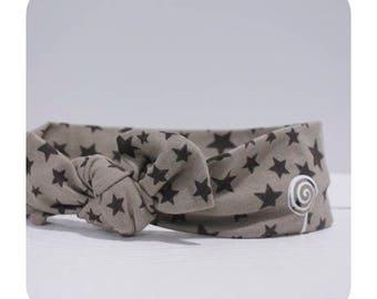 Headband / / chocolate stars.