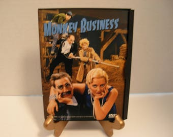 DVD Tape, Monkey Business, Marx Brothers, Groucho, Harpo, Black & White, Full Screen, Free Shipping