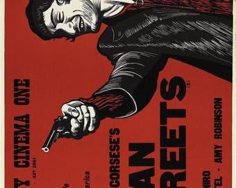 Back to School Sale: MEAN STREETS Movie Poster 1973 Martin Scorsese Robert De Niro