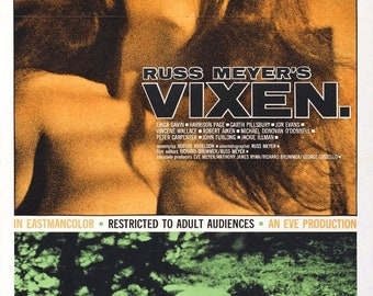 SPRING SALE: VIXEN Movie Poster Expliotation Russ Meyer