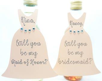 Bridesmaid Proposal Wine Label