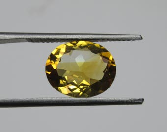 Citrine Faceted Gemstone 3.50 cts Natural Citrine Oval shape Semi Precious Gemstone, Faceted Citrine Gemstone size 10 x 12 mm ET 2285