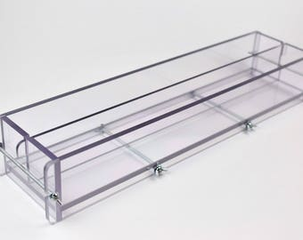 Multilog soap mold with lid, clear