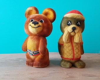 1980 Moscow Olympics Mascot Flocked Toys