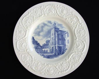Smith College Wedgwood Plate.  Circa 1931-1932.