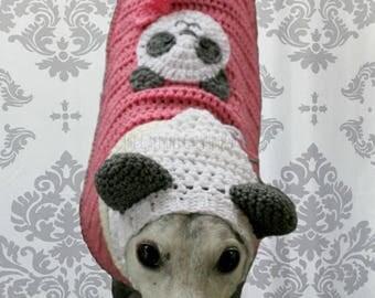 Pink Panda Shirt + Snood Combo for Greyhounds