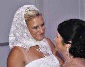 Bridal Babushka, Dollar  Dance, Money Dance, Lace Wedding Headscarf,  Polish Custom, Tradition, Polka, Wedding Reception Accessories, Veil