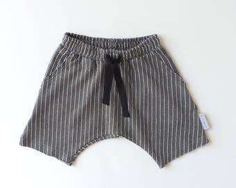 Olive Green Harem Shorts, Etsy Kids Fashion, Toddler Boy Toddler girl, Lightweight Summer Shorts, Toddler Kids Trendy Clothes - by PetitWild