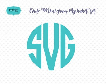 Circle monogram font SVG for Cricut, circle monogram svg, Alphabet font for cutting machines  ID#stn-me