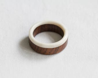 Antler and Lead Wood Ring