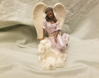 Heavenly Light Votive Lenox Angel figure/candle holder