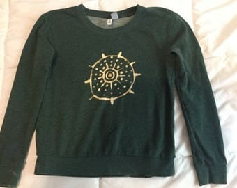 Hand dyed altered vintage sweatshirt