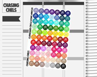 Clipboard Icons #MCS31 Premium Matte Planner Stickers