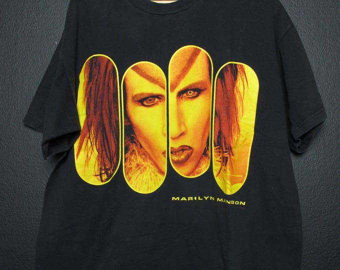 Marilyn Manson Rock is Dead 1990s Vintage Tshirt