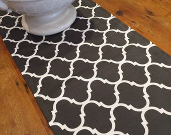 Table Runners, Indoor/Outdoor Weatherproof Canvas, Stone U0026 Off White,Quality