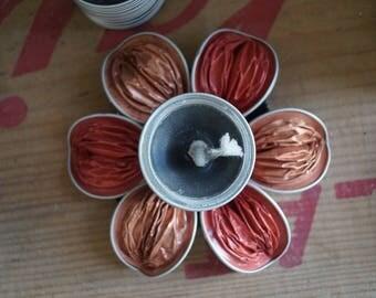 Red Nespresso candlestick
