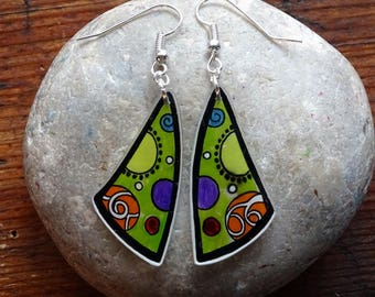 """Earrings """"shapes in color"""""""
