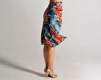 BELLA new abstract print skirt - size XS only