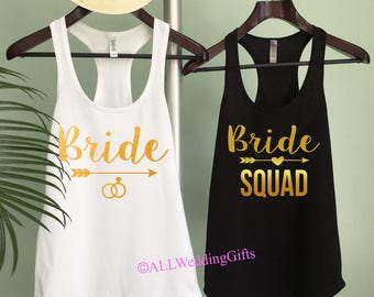 Bride Squad Shirt Bachelorette Party Shirts Bridesmaid Ring Arrow