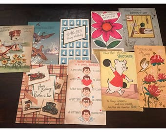 Huge lot of 72 Vintage Greeting Cards from the 1950's Birthday Anniversary Easter