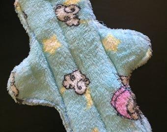 "11 inch cotton velour ""sky blue"" cloth pad"