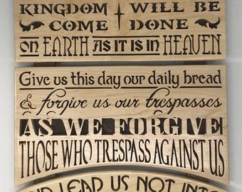Lord's Prayer Wall Plaque
