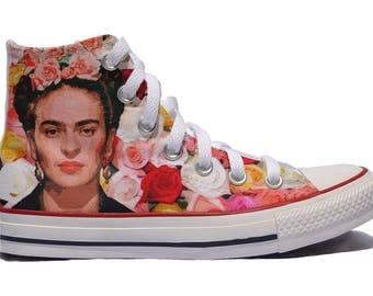 Frida Kahlo inspired custom converse