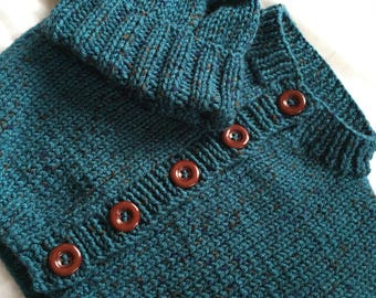 9-12 Month Infant Baby Cardigan Sweater - Teal Fleck