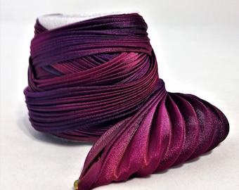 Silk ribbon Shibori N 59  Free delivery from  50 dollar...