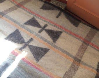 Nepali Radhi Hand Made Woolen Floor Rug Colors