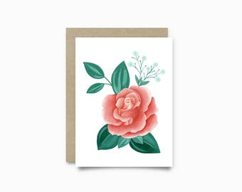 Greeting card - pink