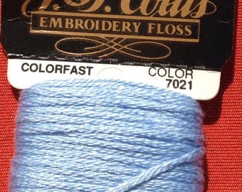 J P Coats embroidery floss blue color 7021