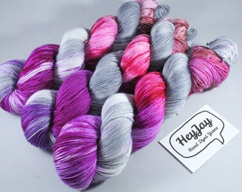 Hand Dyed Sock Yarn Superwash Merino/Nylon - Power Up