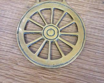 Vintage Horse Brass Cartwheel in Good Condition