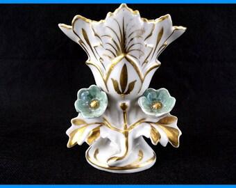 Vase wedding vintage porcelain of Paris France Napoleon III shabby chic decor vintage shabby vintage France vintagefr