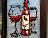 Abstract Wine Art~ Staine...