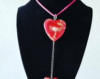 Polymer Clay Valentine Necklace & Earring Set
