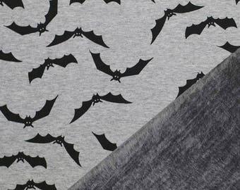 Bats, Flecked Grey - Alpine Fleece Stretch Sweat