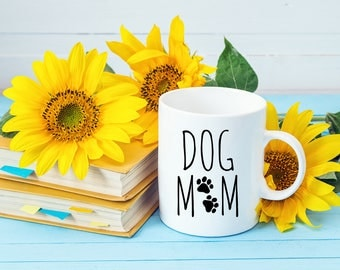 Funny Coffee Mugs | Dog Mom Mug | Fur Mama | Dog Mom | Mom of Dogs | Gifts for Animal Lovers
