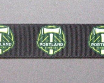 """Portland Timbers Dog Collar - Side Release Buckle (1"""" Width) - Martingale Available"""