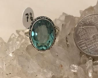 Blue Apatite Ring Size 7 1/2